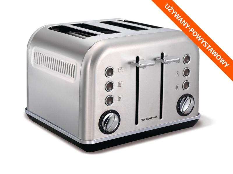 MORPHY RICHARDS Toster Accents Srebrny 1880W Tacka