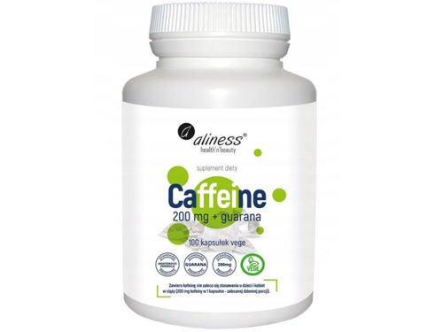 ALINESS Caffeine 200mg with guarana 100 capsules