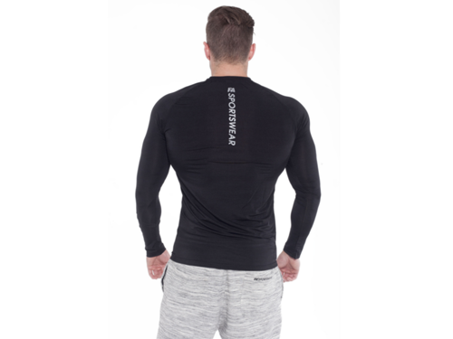 FITNESS AUTHORITY FASM Long sleeve 01 Compression DARK BLACK