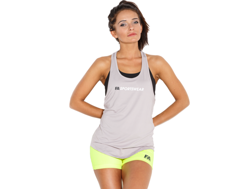 FITNESS AUTHORITY FASW Tank top 02 W Loose GREY