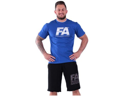 FITNESS AUTHORITY T-shirt Double Neck BLUE
