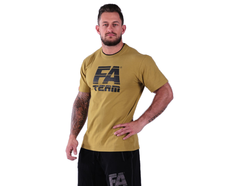 FITNESS AUTHORITY T-shirt Double Neck BROWN