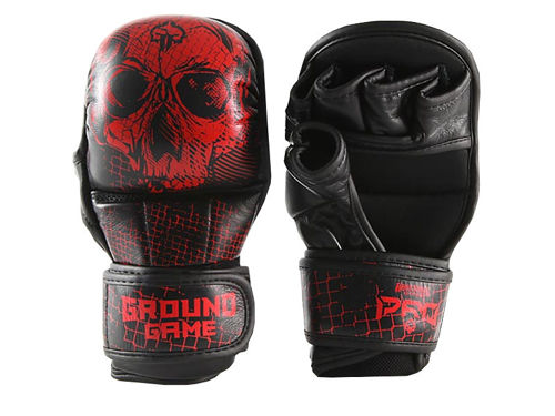 "GROUND GAME MMA PRO ""RED SKULL"" sparring gloves"