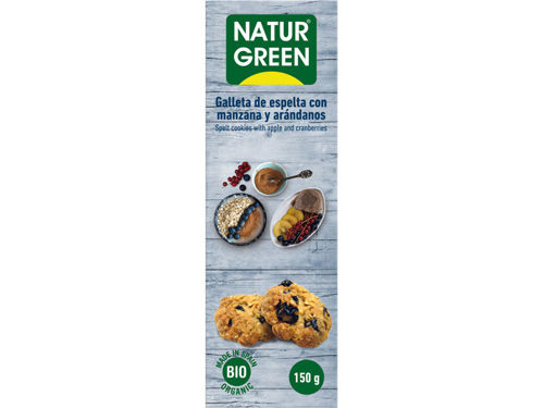 NATUR GREEN Cookies with Apple and Cranberries 150g