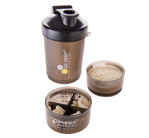 OLIMP Shaker Smart Shake Black Label 400 ml + 2x 120 ml