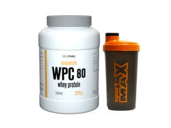 ECOMAX WPC 80 Whey Protein 2270 g + Shaker Sport-Max
