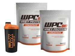ENERGY PHARM WPC 80 Whey Protein Concentrate 2x 900 g + Shaker