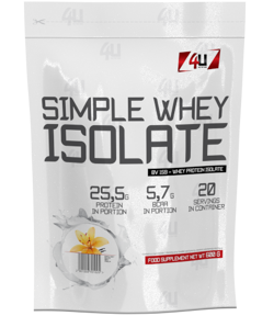 4U NUTRITION Simple Whey Isolate 600 g