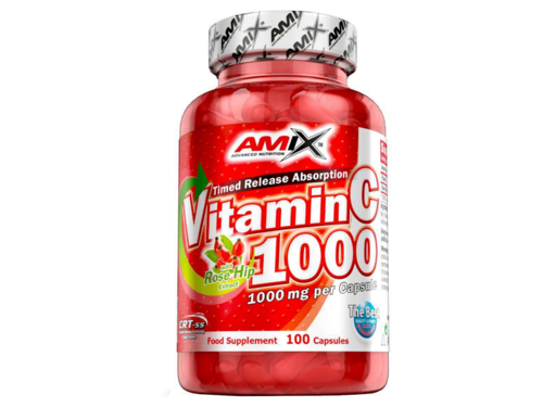 AMIX Vitamin C 1000mg + Rose Hip 100 kaps