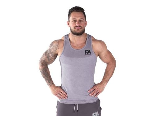 FITNESS AUTHORITY FASM Tanktop 01 Basic Light GREY
