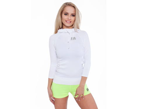 FITNESS AUTHORITY FASW Hoodie 01 W Superstar WHITE