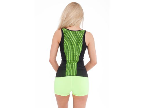 FITNESS AUTHORITY FASW Tank top 03 W Knit Black / Neon Yellow