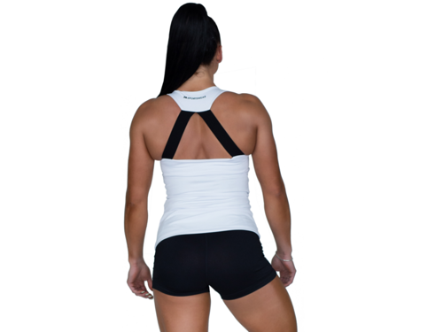 FITNESS AUTHORITY FASW Tank top Zip WHITE