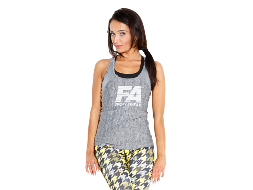 FITNESS AUTHORITY FASW Tanktop 01 W Basic GREY