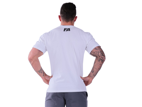 FITNESS AUTHORITY T-shirt Double Neck WHITE