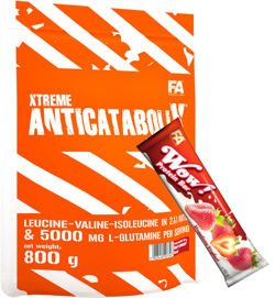 FITNESS AUTHORITY Xtreme Anticatabolix 800 g + FITNESS AUTHORITY WOW Protein Bar 60 g