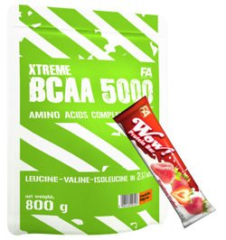 FITNESS AUTHORITY Xtreme BCAA 5000 800 g + FITNESS AUTHORITY WOW Protein Bar 60 g