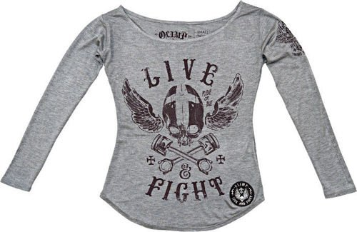OLIMP LIVE & FIGHT Lady's Shirt Longsleeve VOODOO MOTORS