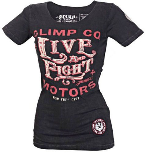 OLIMP LIVE & FIGHT Lady's Tee ROSE SKULL