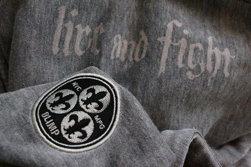 OLIMP LIVE & FIGHT Men's Hoodie EAGLE GREY