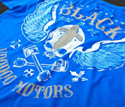 OLIMP LIVE & FIGHT Men's Tee VOODOO MOTORS