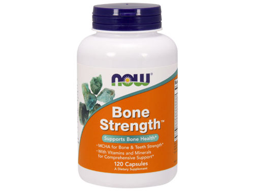 Outletw_NOW FOOD'S Bone Strength 120 kaps